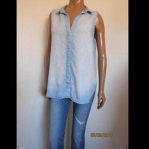 Cloth & Stone LYNDEN Button Back Chambray Shirt